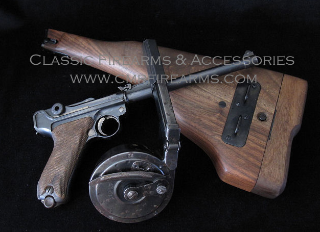 Artillery Luger pistol Early 1913 Prototype stock. Ref.#01.FC1